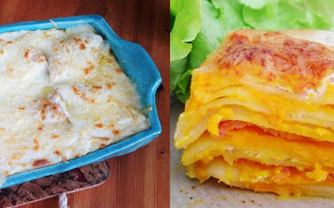 Lasagne à la courge et aux champignons